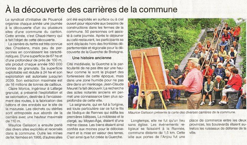 Journée découverte Chazé-Henry - Ouest-France