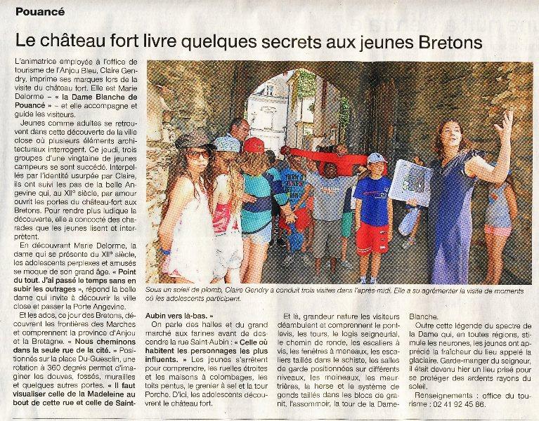 Visite de la cité castrale de Pouancé par l`O.T - Ouest-France